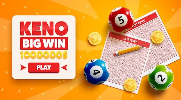 Sfondo della lotteria con posto per il testo Vettore Premium