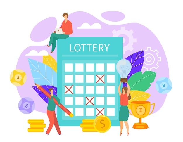 Illustrazione del concetto di lotteria Vettore Premium