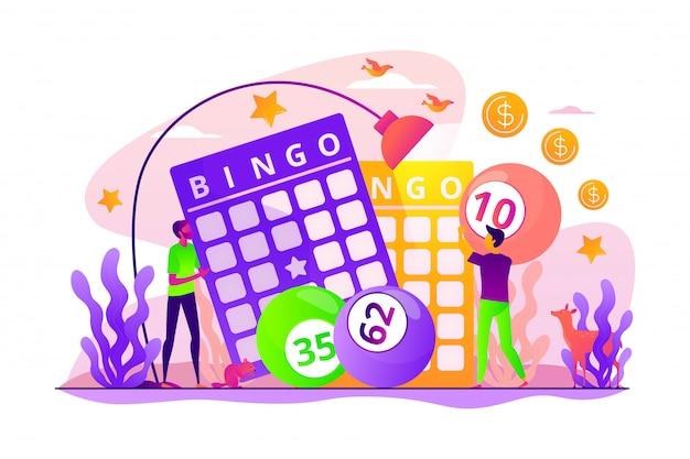 Concetto di gioco della lotteria. Vettore Premium