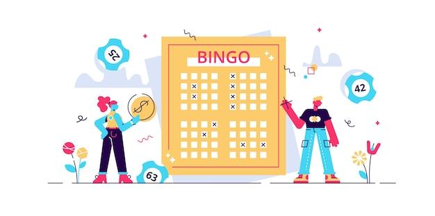 Illustrazione della lotteria. Vettore Premium