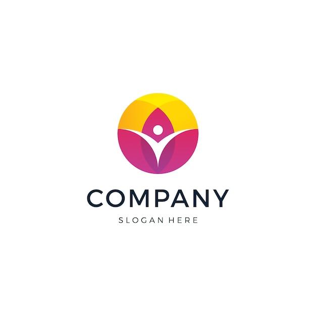 Logo lotus life Vettore Premium