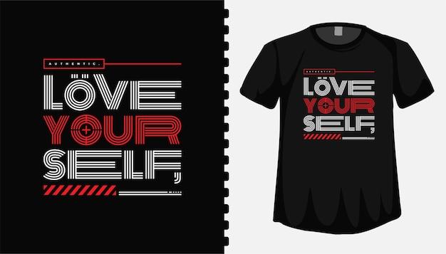 Adoro il tuo modello di progettazione della maglietta con lettere di tipografia per abbigliamento alla moda Vettore Premium