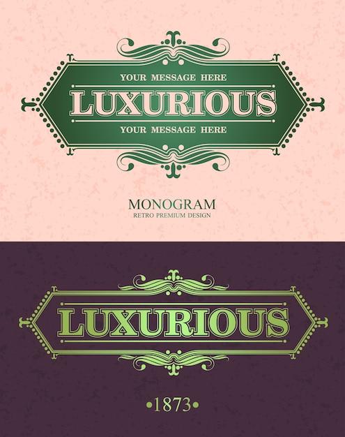Cornice ornamentale di elementi di lusso. Vettore Premium