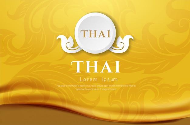 Sfondo di lusso, concetto tradizionale tailandese the arts of thailan. Vettore Premium