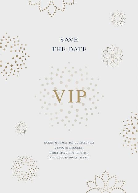 Carta di invito di lusso Vettore Premium