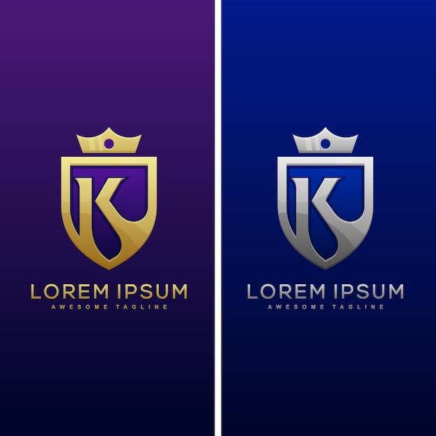 Modello di lusso di progettazione di vettore dell'illustrazione di concetto della lettera k. Vettore Premium