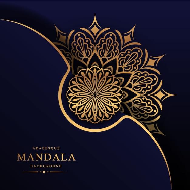Mandala di lusso decorativo elemento etnico sullo sfondo Vettore Premium