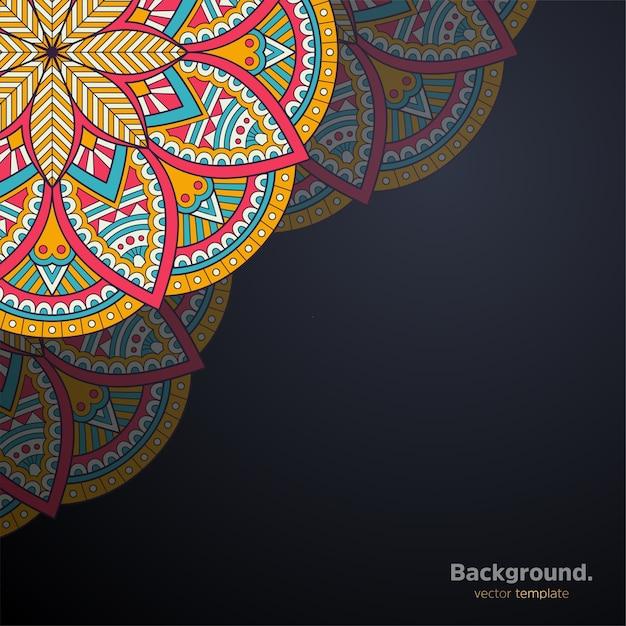 Priorità bassa di disegno della mandala ornamentale di lusso Vettore Premium