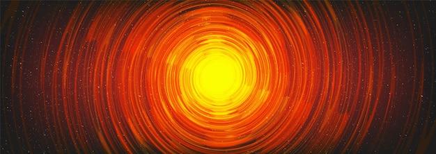 Buco nero a spirale magica sullo sfondo dell'universo cosmico Vettore Premium