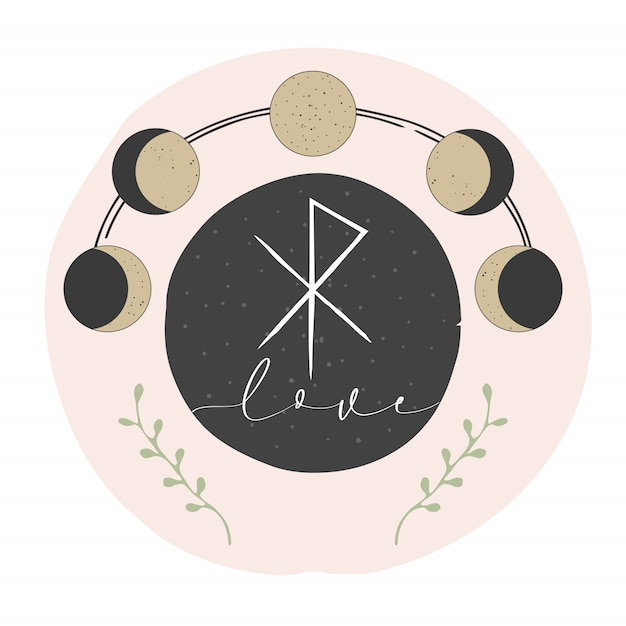 Magico design occulto Vettore Premium