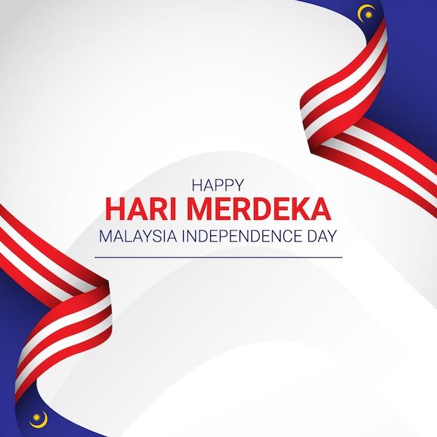 Modello di festa dell'indipendenza della malesia Vettore Premium