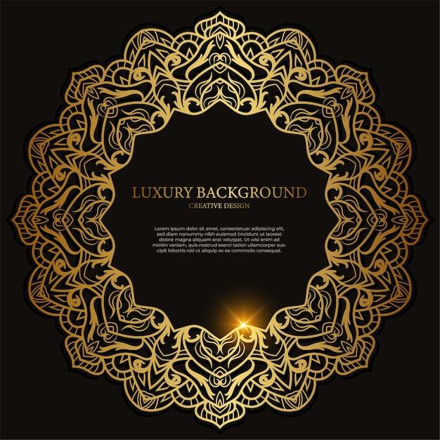 Mandala ornamento o disegno di sfondo fiore. Vettore Premium