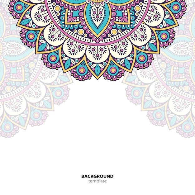 Mandala. round ornament pattern. sfondo etnico orientale Vettore Premium
