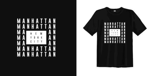 Design t-shirt manhattan new york city Vettore Premium