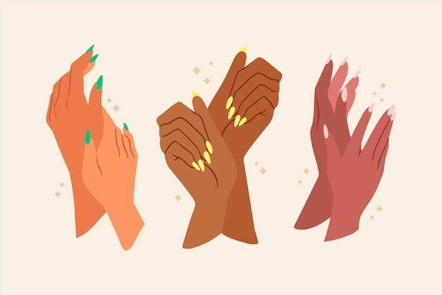 Set per manicure Vettore Premium