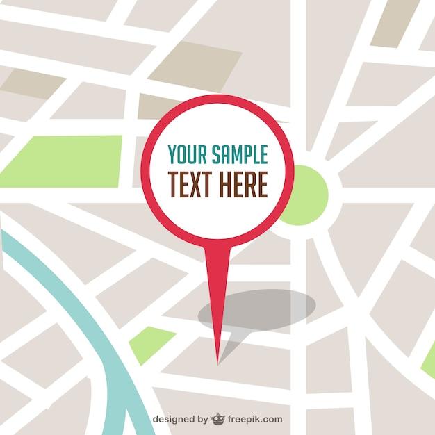 Mappa vettoriale con perno illustrazione Vettore Premium