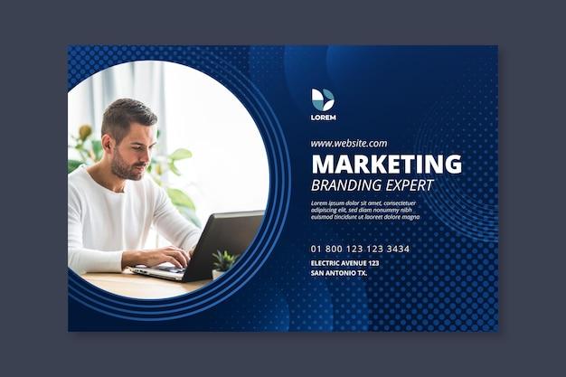 Modello di banner aziendale di marketing Vettore Premium