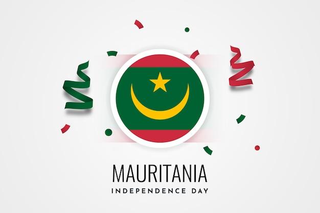 Giorno dell'indipendenza della mauritania Vettore Premium