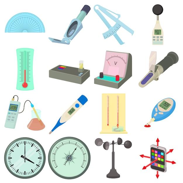 Set di icone di strumenti di misura Vettore Premium