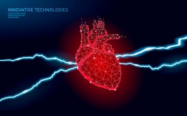 Avvertimento di attacco di cuore della medicina. diagnostica della salute umana malattia dolorosa del sistema vascolare cardiologia cuore protegge il concetto. illustrazione. Vettore Premium