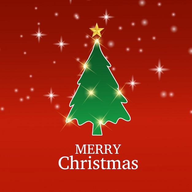 Albero Di Natale Auguri.Buon Natale Biglietto Di Auguri Con Origami Albero Di Natale Vettore Premium
