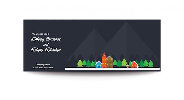 Buon natale e buone feste facebook banner banner foto Vettore Premium