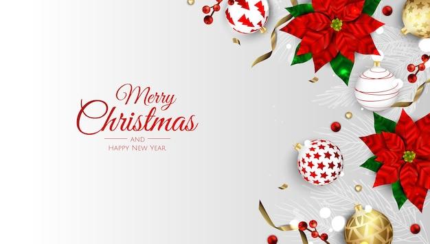 Buon natale e felice anno nuovo. Vettore Premium