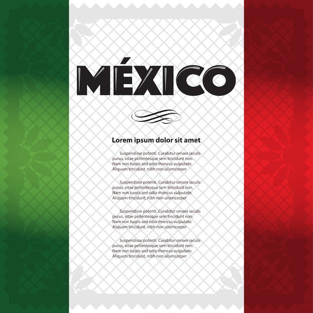 Modello di pagina vacanza messicana Vettore Premium