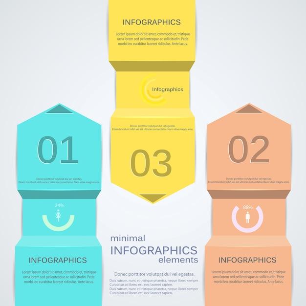 Infografica minima. Vettore Premium