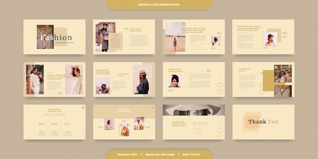 Modello di presentazione di diapositive minimo Vettore Premium