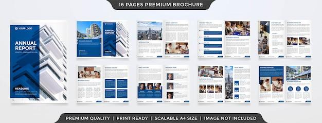 Modello di relazione annuale minimalista Vettore Premium