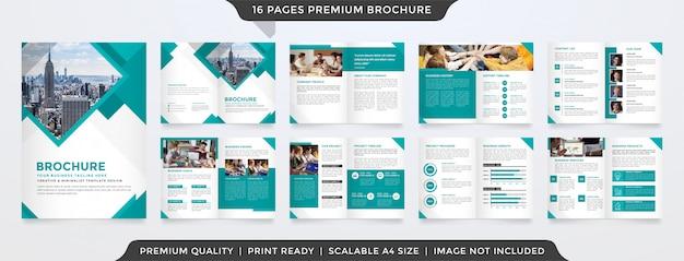 Modello di brochure bifold minimalista Vettore Premium