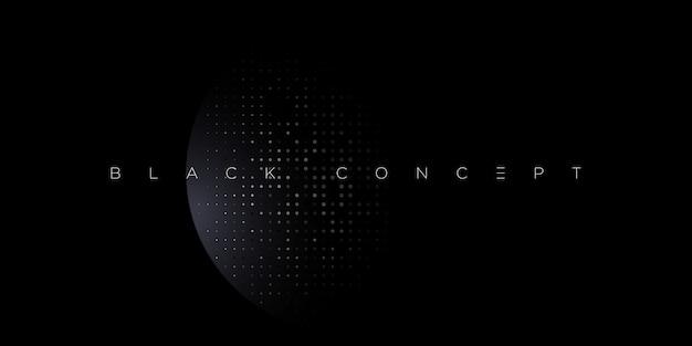 Sfondo astratto premium nero minimalista con elementi geometrici scuri di lusso. carta da parati esclusiva per poster, brochure, presentazione, sito web, banner ecc. - Vettore Premium