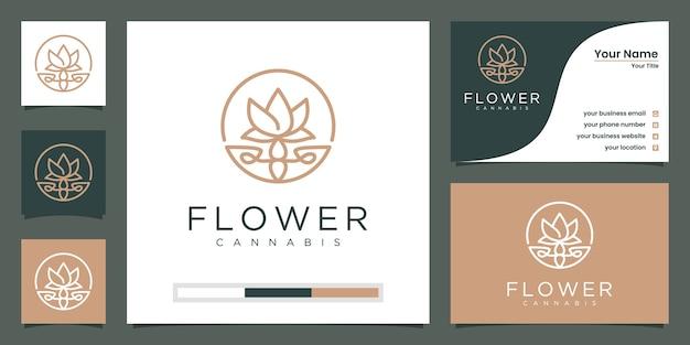 Salone di bellezza di lusso minimalista elegante fiore rosa, moda, cura della pelle, cosmetici, yoga e spa. Vettore Premium