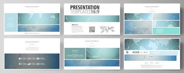L'illustrazione vettoriale astratta minimalista del layout modificabile di diapositive di presentazione ad alta definizione progettare modelli di business. Vettore Premium