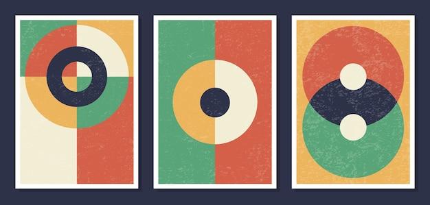 Poster murali di arte geometrica minimalista Vettore Premium
