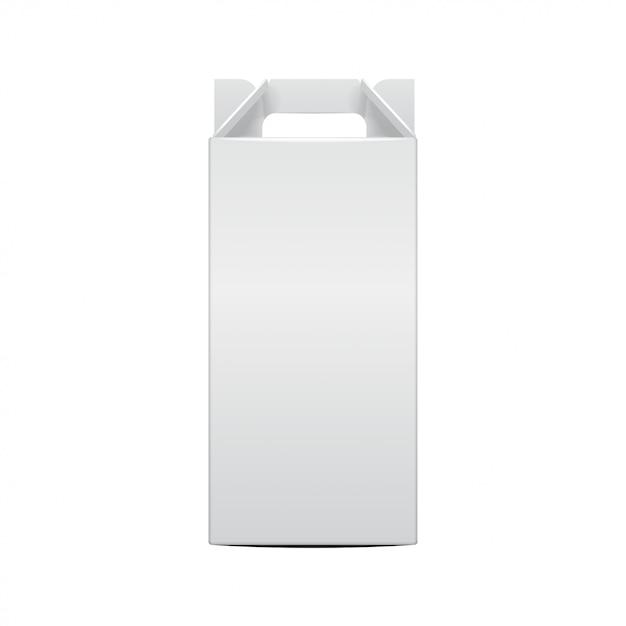 Modello di bottiglia di vino mock-up e pacchetto pieghevole bottiglia di vite. illustrazione della scatola del mestiere del regalo per, fondo, insegna. vista frontale Vettore Premium
