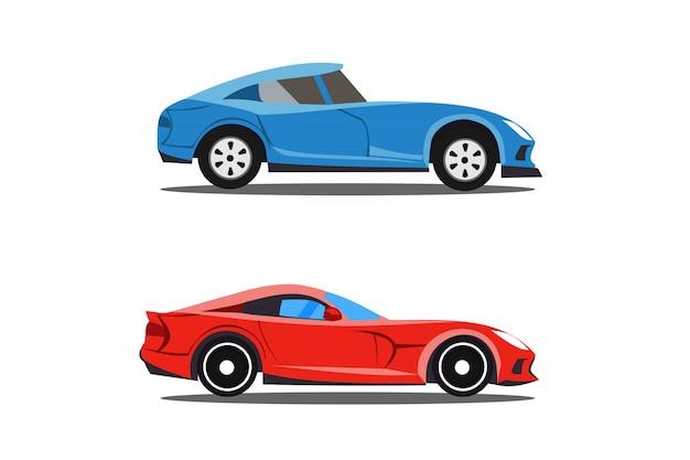 Modello di auto di profilo Vettore Premium