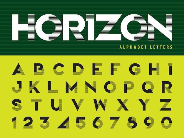 Lettere di alfabeto moderno Vettore Premium