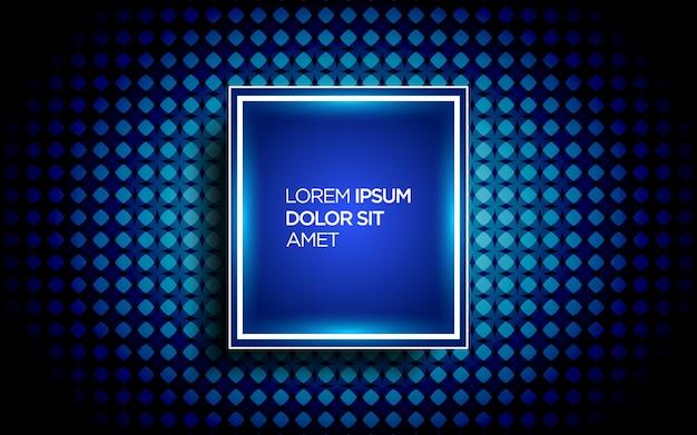 Sfondo moderno con motivo astratto ed effetto neon Vettore Premium