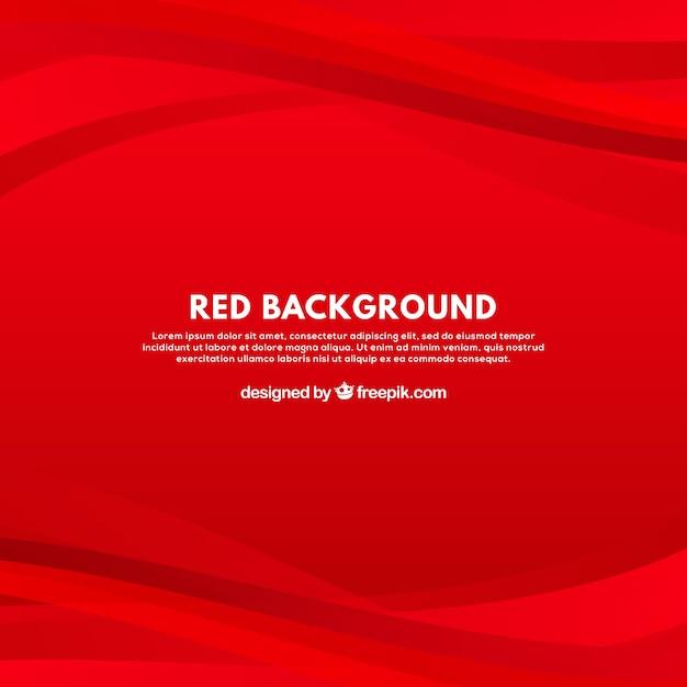 Sfondo moderno con curve rosse Vettore Premium