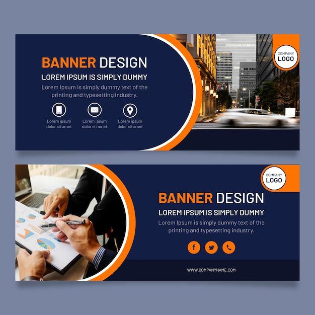 Modello di banner moderni Vettore Premium