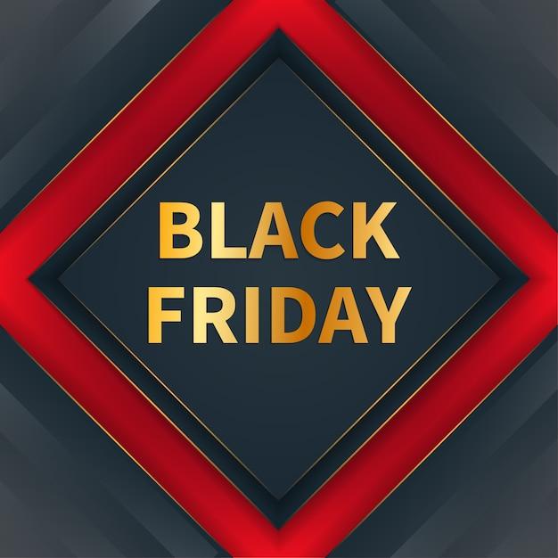 Moderno concetto di banner venerdì nero Vettore Premium