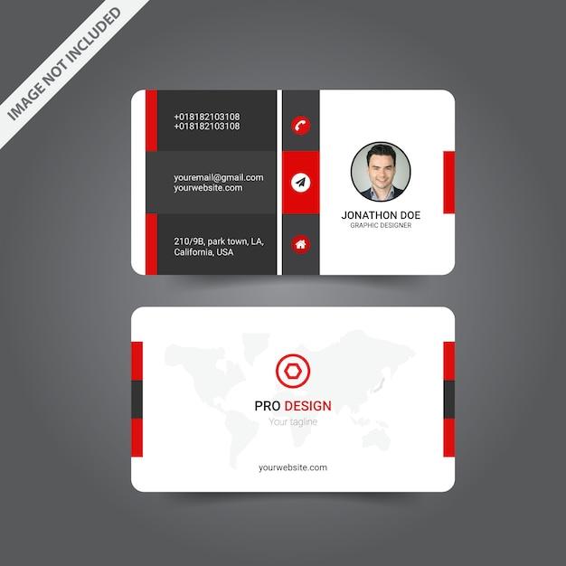 Design moderno biglietto da visita Vettore Premium