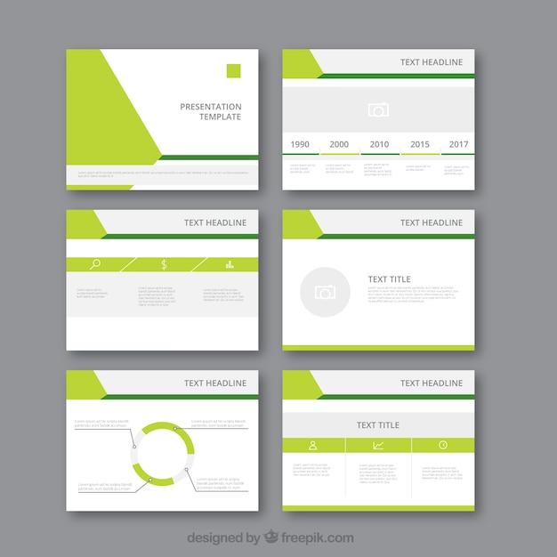 Moderno modello di presentazione aziendale Vettore Premium