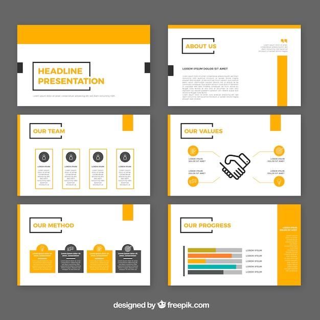Modello di presentazione aziendale moderna Vettore Premium