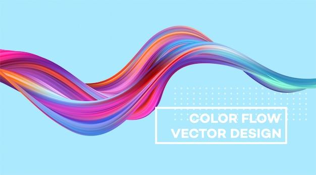 Sfondo moderno flusso colorato. Vettore Premium