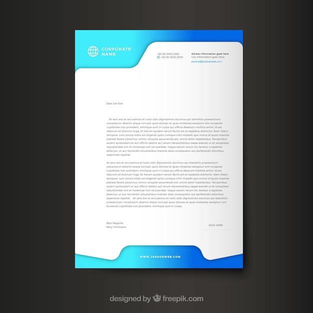 Modello aziendale moderno della lettera intestazione Vettore Premium