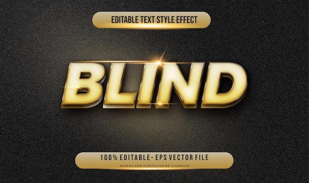 Stile di testo modificabile moderno effetto oro. stile del carattere modificabile. Vettore Premium