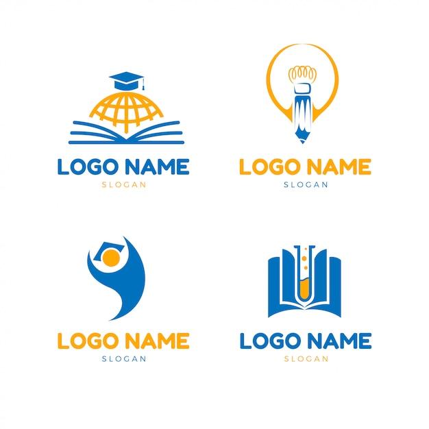 Logo di educazione moderna Vettore Premium